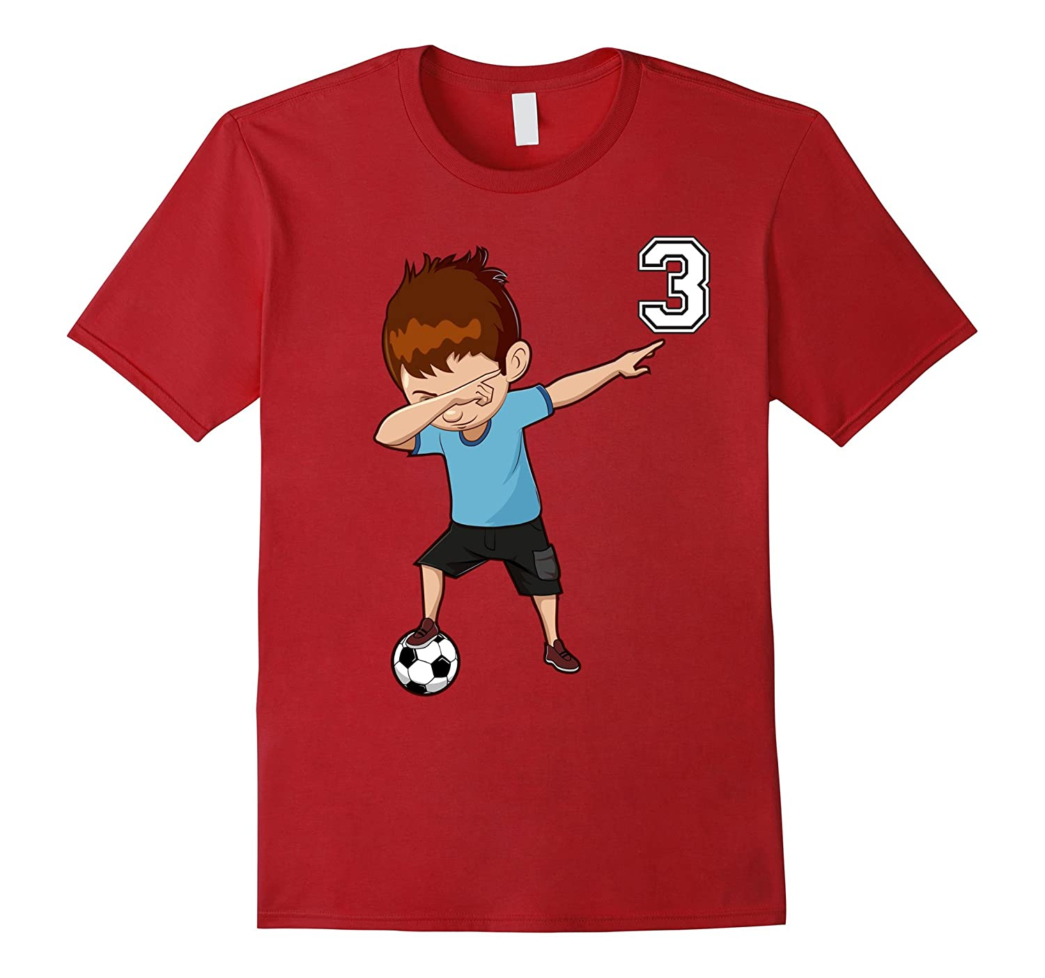 #3 Soccer Shirt for Boys Funny Dabbing Dab Dance Soccer Ball-Art