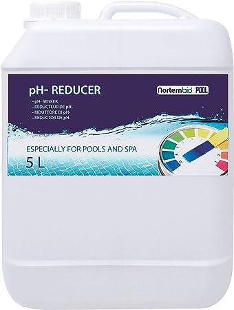 Nortembio Pool pH- Minus 5 L, Reductor pH Natural para Piscina y SPA. Mejora la Calidad del Agua, Regulador pH, Beneficioso para la Salud.