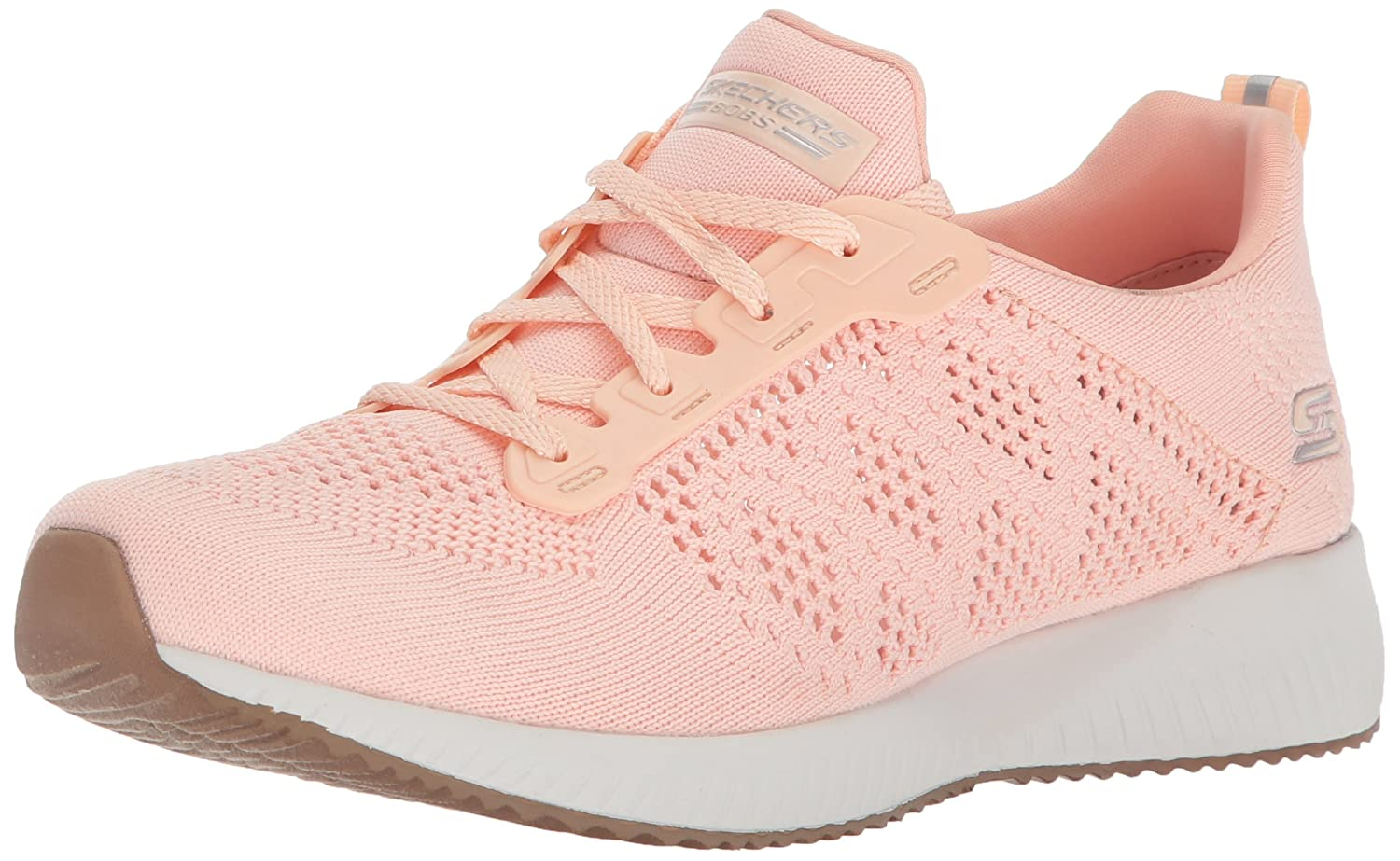 Skechers BOBS from Women's Bobs Squad-Open Weave Sneaker B071G3VVNR 7 B(M) US|Light Pink