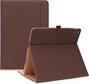 ProCase iPad Pro 12.9 2017/2015 Case (Old Model) - Stand Folio Case Cover for Apple iPad Pro 12.9 Inch (Both 2017 and 2015 Models), with Multiple Viewing Angles, Apple Pencil Holder -Chocolate