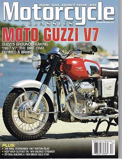 Vintage Moto Guzzi V7 Motorcycle Advertisement Poster Home Decor Gift