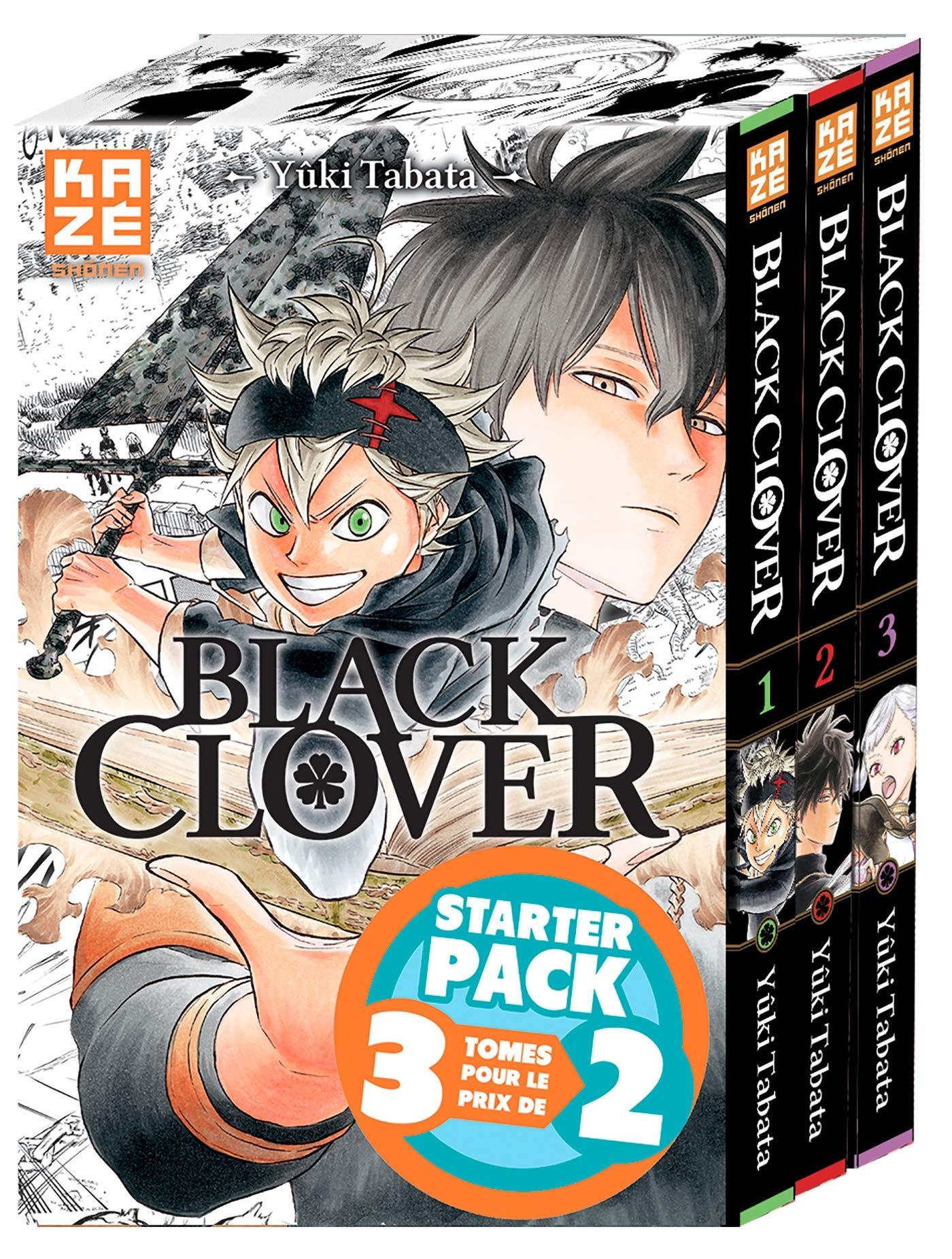 Black Clover - Starter Pack T01 à T03 (KAZ.COFFRET): Amazon.es ...