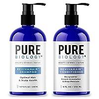 Pure Biology Premium RevivaHair Biotin Shampoo & Conditioner for Hair Growth