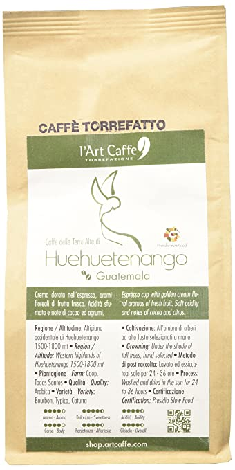 15 opinioni per L'Art Caffè Caffè delle Terre Alte di Huehuetenango, Macinato Moka, Qualità