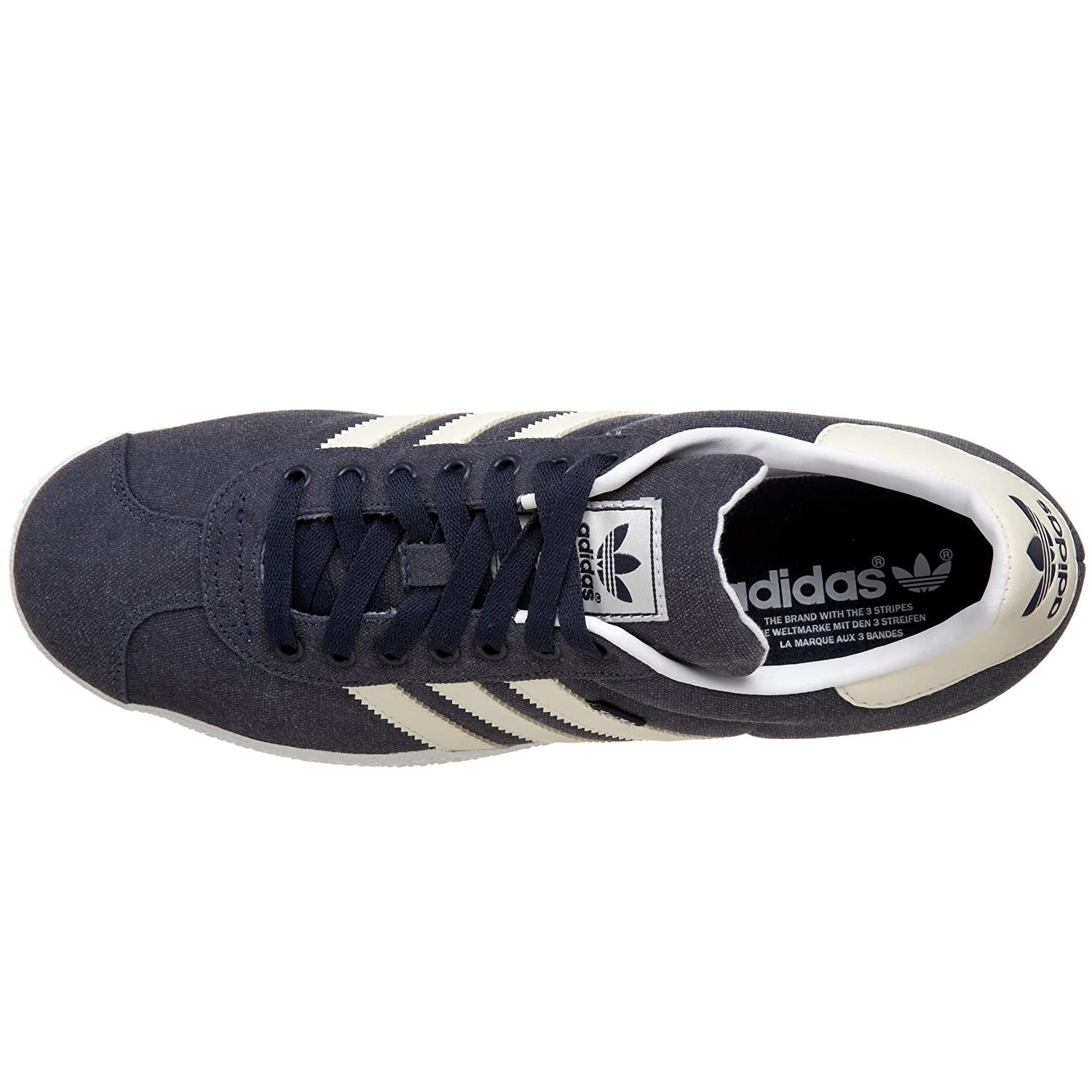 buy popular 8a506 1e090 Adidas Originals Men s Gazelle 2 Hemp Fashion Sneaker, Collegiate  Navy Ecru White, 8.5 D  Buy Online at Low Prices in India - Amazon.in