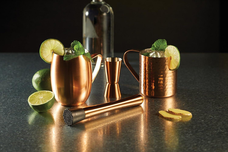 Bar Craft Medidor Dual Cócteles/Medidor de Alcochol, Acero inoxidable, Acabados en Cobre, 25/50 ml