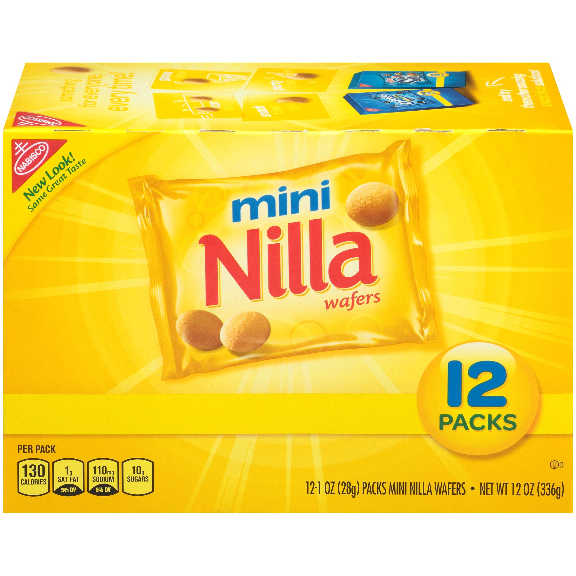 Nilla Wafers Mini Cookies - Snack Packs, 12 Count Box, 12 Ounce by Nilla