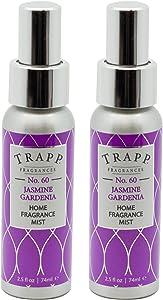 Trapp Home Fragrance Mist, No. 60 Jasmine Gardenia, 2.5-Ounce (2-Pack)