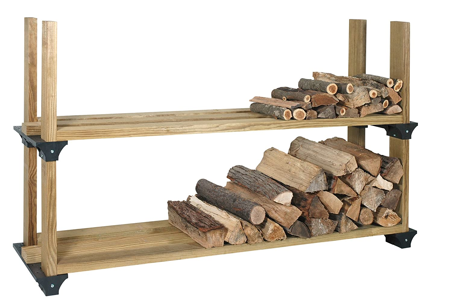 Amazon.com: Hopkins 90144 2x4basics Firewood Rack System, Black ...