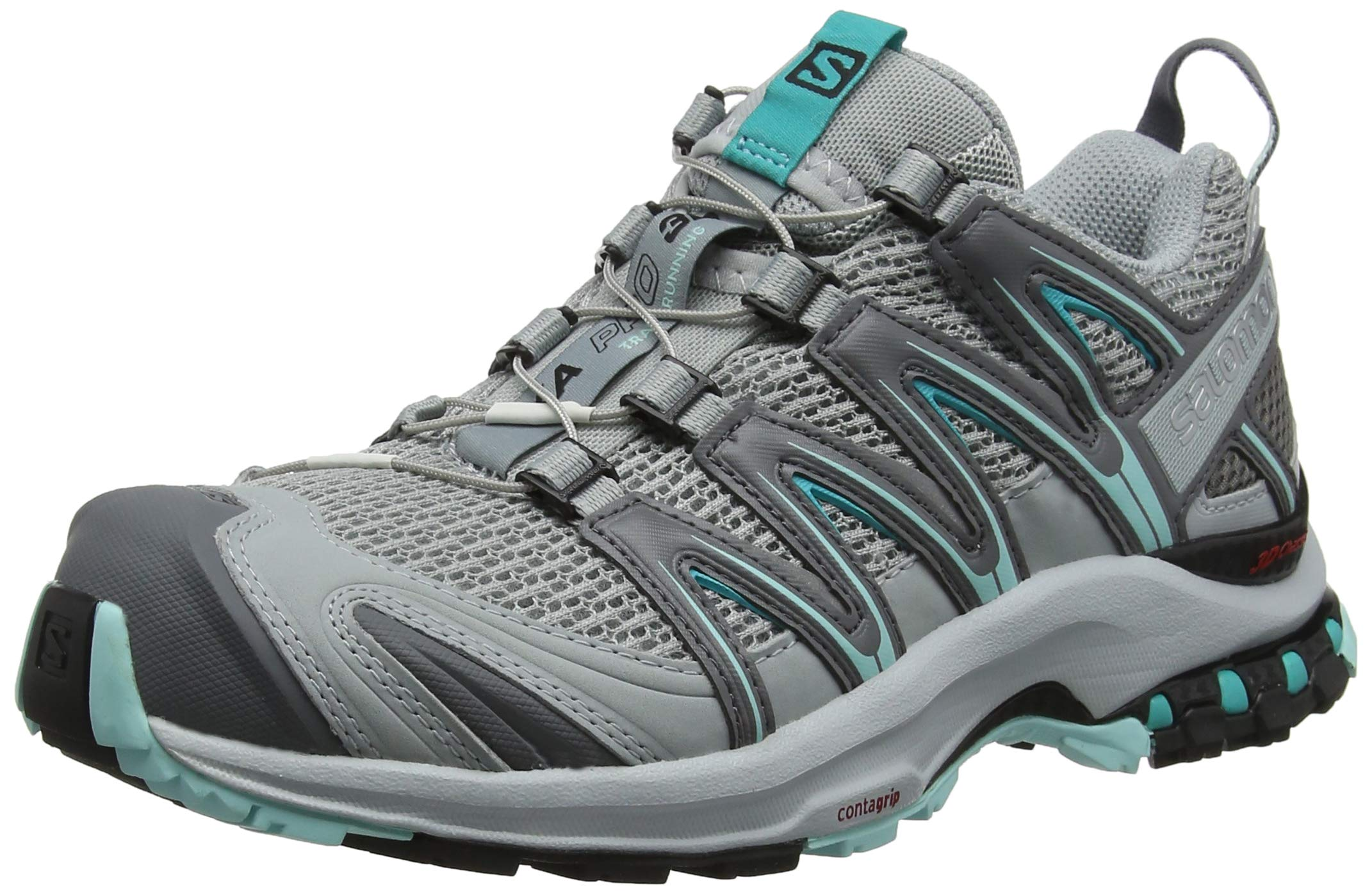 Salomon Women's XA Pro 3D W Trail Runner, Quarry/Pearl Blue/Aruba Blue, 5.5 B by Salomon