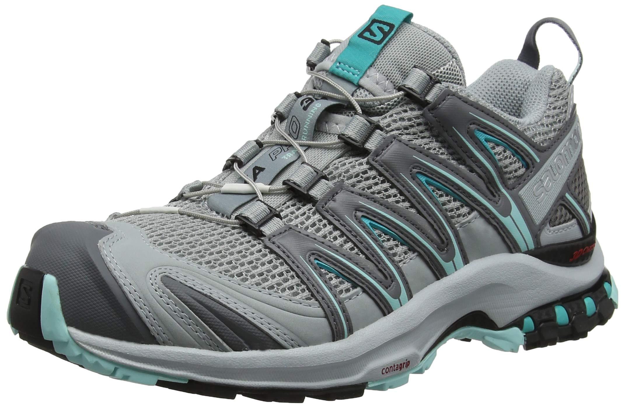 Salomon Women's XA Pro 3D W Trail Runner, Quarry/Pearl Blue/Aruba Blue, 5 B