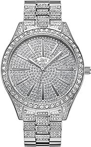 جيه بي دبليو ساعة يد نساء مرصعة بالالماس 12 قطعة ، ستانلس ستيل ، J6346C