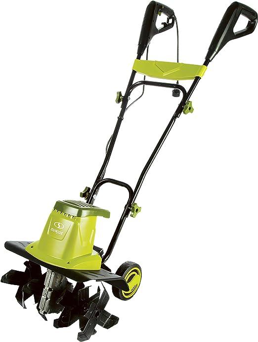 Amazon.com: Cultivadora eléctrica Sun Joe con ruedas ...