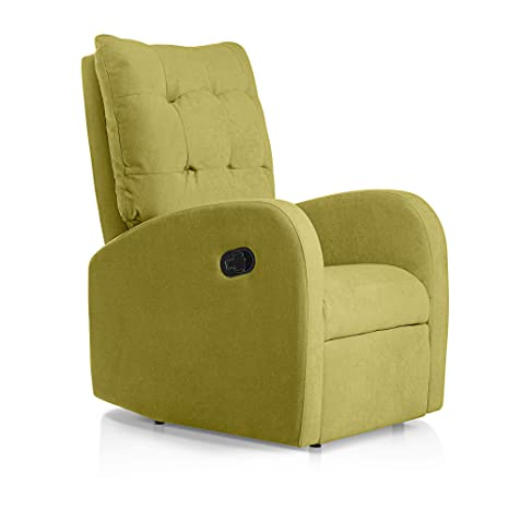 SUENOSZZZ-ESPECIALISTAS DEL DESCANSO Sillon Relax reclinable Soft tapizado Tela Antimanchas Color Pistacho | Sillon reclinable butaca Relax | Sillon ...