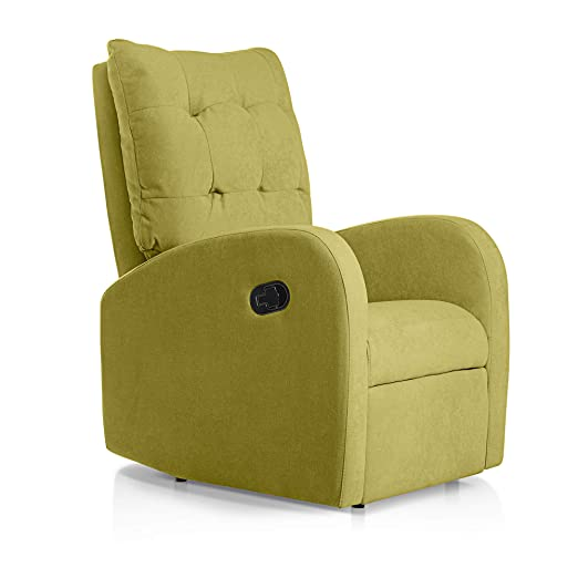 SUENOSZZZ-ESPECIALISTAS DEL DESCANSO Sillon Relax reclinable Soft tapizado Tela Antimanchas Color Pistacho | Sillon reclinable butaca Relax | Sillon ...