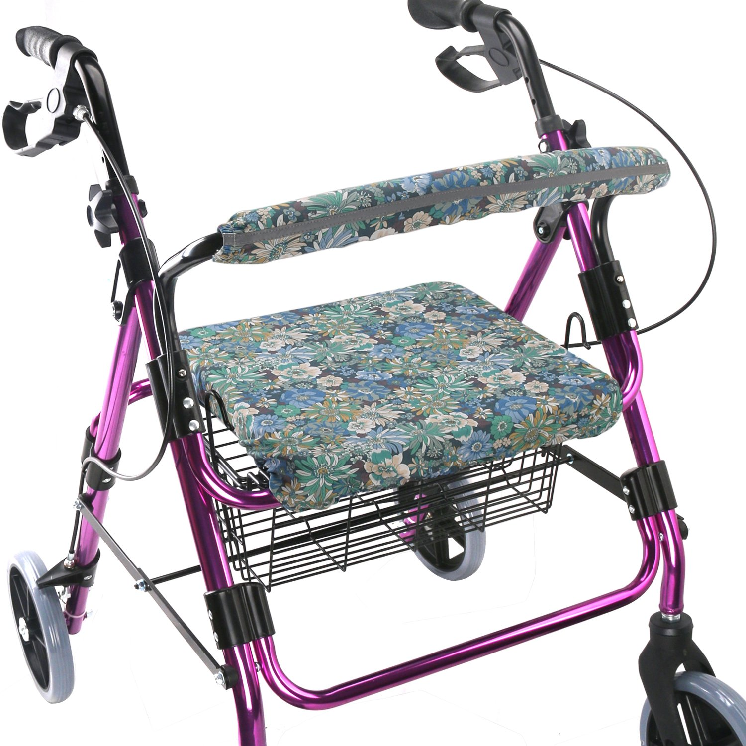 Walker Seat Cover Rollator Walker Seat and Backrest Covers Vibrant Walker Cover One Size Multiple Colors (CB1887)