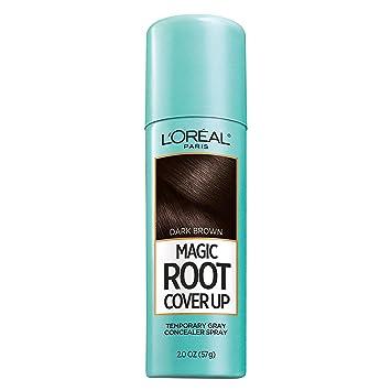 L\'Oreal Paris Magic Root Cover Up Gray Concealer Spray Dark Brown 2 oz.
