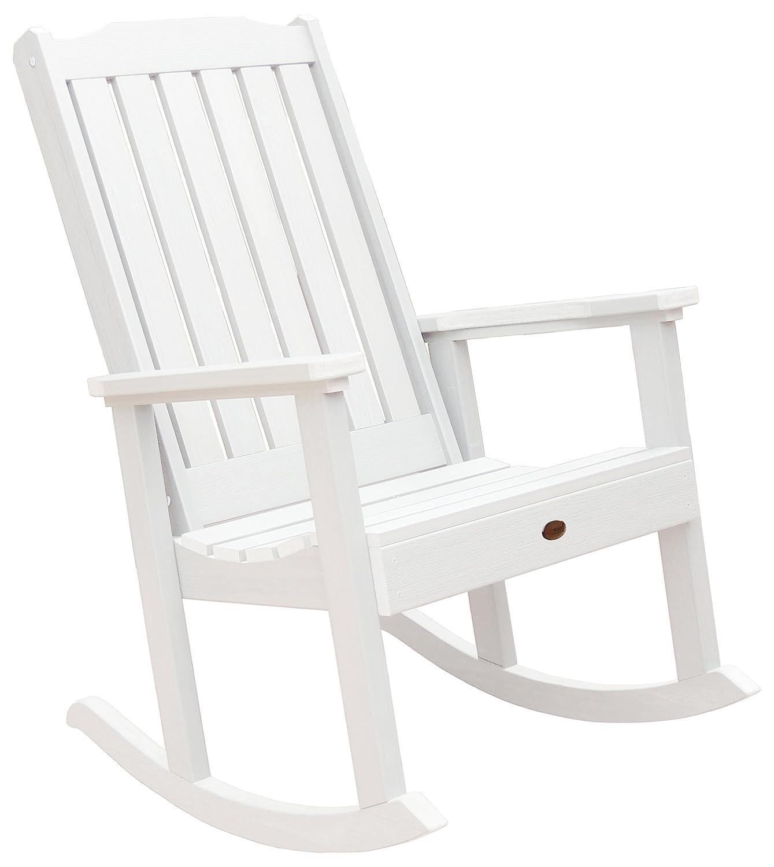 Amazon Highwood Lehigh Rocking Chair White Patio Rocking