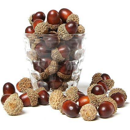 Amazon 100 Pieces Brown Assorted Artificial Acorn Caps Autumn