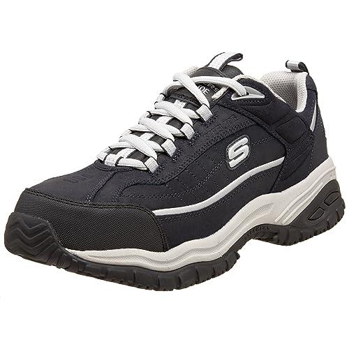 Skechers for Work - Zapatillas de Trabajo para Hombre de Acero Suave, Color Azul, Talla 42.5 EU: Amazon.es: Zapatos y complementos