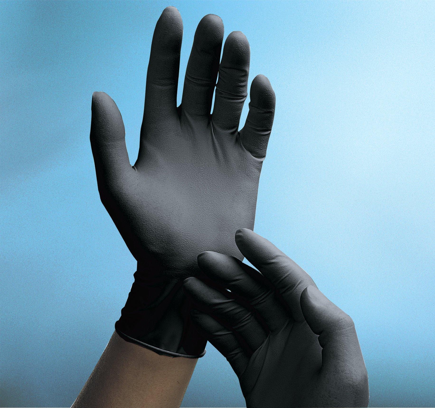 Phantom Black Latex Gloves- Examination Grade (Case of 10 boxes- Medium) by TrippleCream (Image #2)