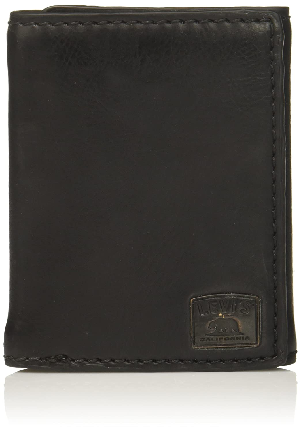 3988421c3d63 Levi s Men s Trifold Wallet - Sleek and Slim Includes ID Window and Credit  Card Holder