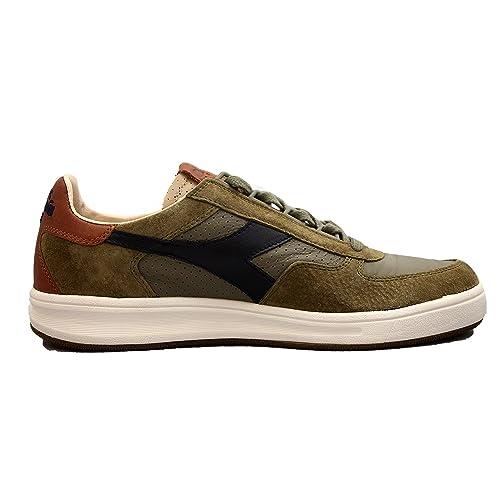 Diadora - Zapatillas de Cuero para Hombre Verde/marrón: Amazon.es: Zapatos y complementos