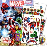 Marvel Comics Heroes Coloring Book With Stickers And Tattoos Set Bundled 2 Specialty Separately Licensed