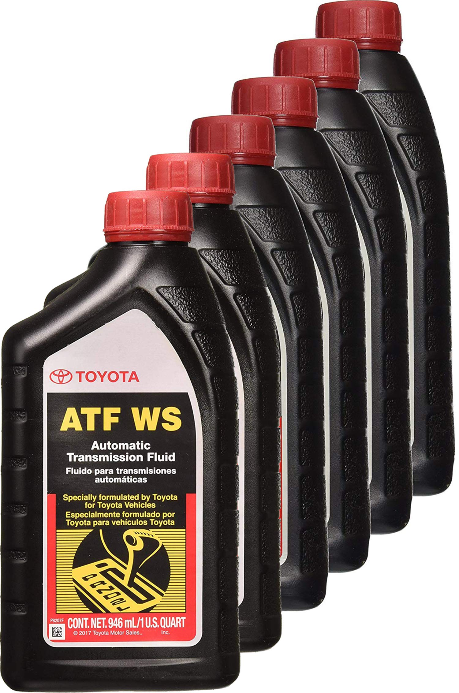 Toyota 6 Pack 00289-ATFWS Automatic Transmission Fluid, 192 Ounces, 6 Pack, 192 Ounces, 6 Pack by TOYOTA