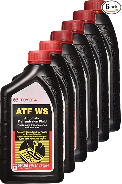 Toyota 6 Pack 00289 ATFWS Automatic Transmission Fluid 192 Ounces 6 Pack 192 Ounces 6 Pack