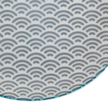 Tokyo Design Studio Starwave Dessert Plate - Small Wave - Grey/Aqua at Amara