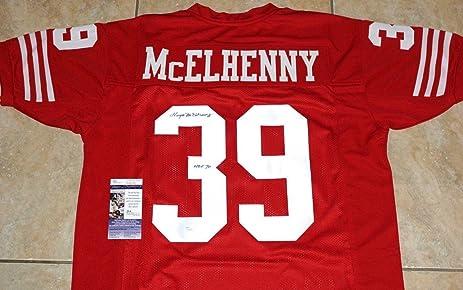 1497bda77c5 Signed Hugh McElhenny Jersey -  39  quot HOF 70 quot  + COA  S96142