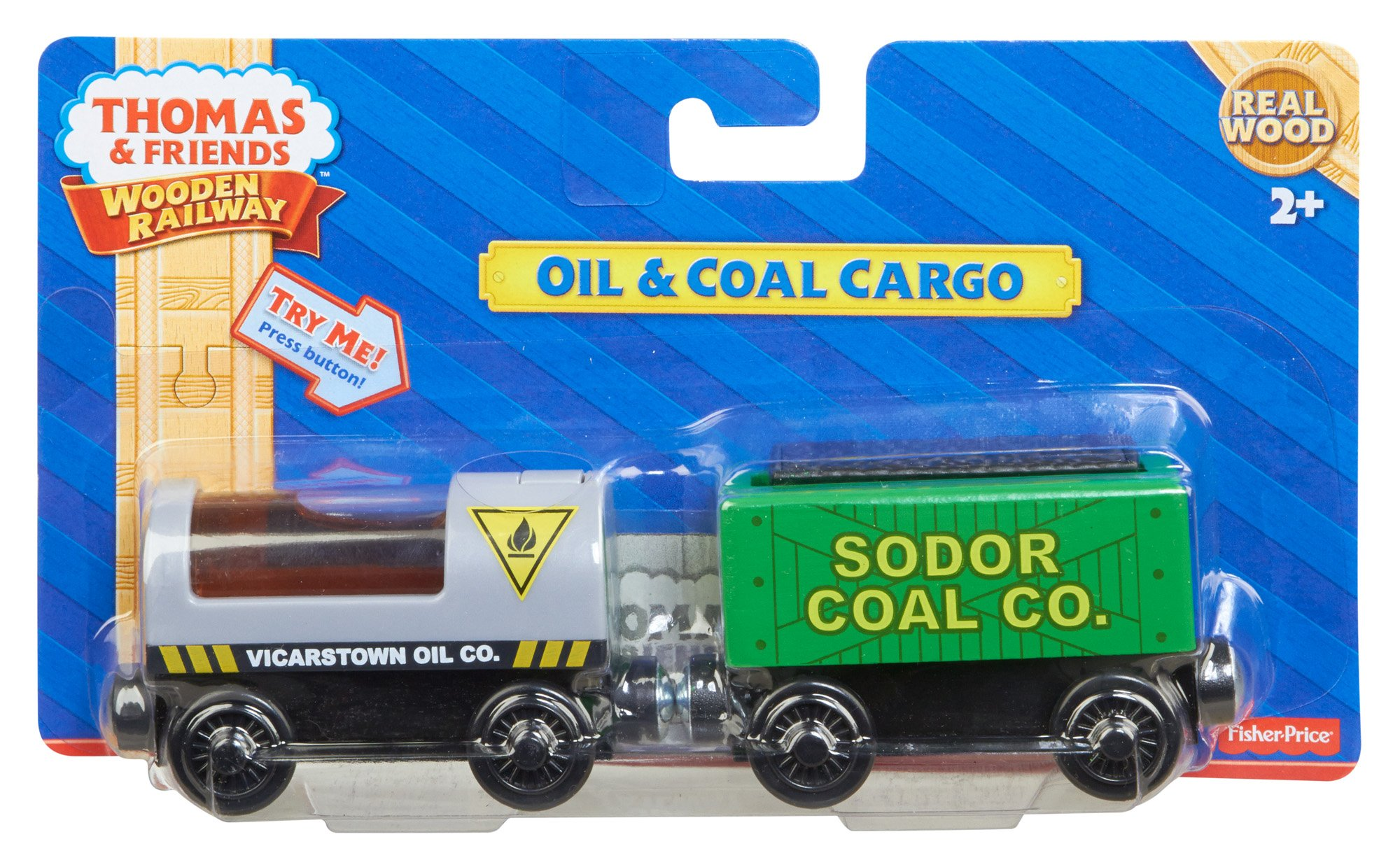 Thomas & Friends Fisher-Price Wooden Railway, Oil and Coal Cargo