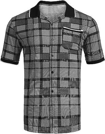 Camisa De Polo Hombres Camisa De Retro Manga Corta De La ...