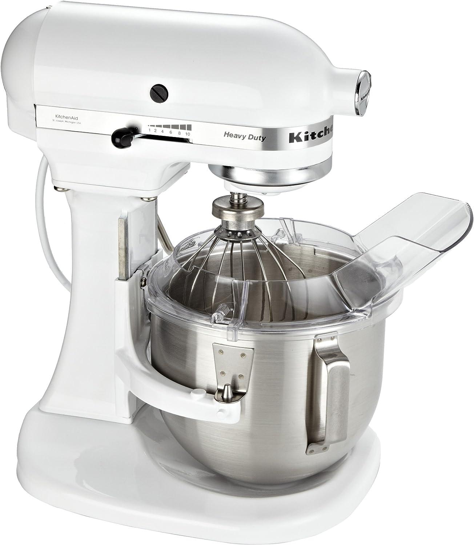 KitchenAid 5KPM5 EWH ROBOT DE COCINA DE GRAN CAPACIDAD DE 4,8 L, 315 W, 4.8 litros, Metal, Blanco: Amazon.es: Hogar