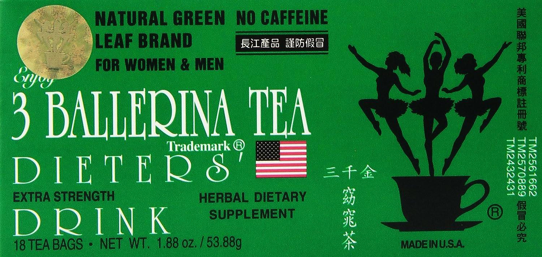 3 Ballerina Tea - Dieters Tea - 18 bags by 3 Ballerina