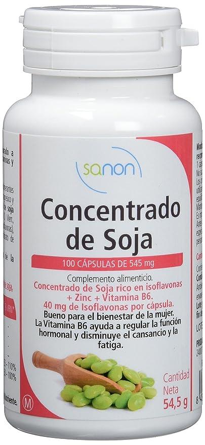 Sanon Concentrado de Soja Rico en Isoflavonas - 2 Paquetes de 100 Cápsulas