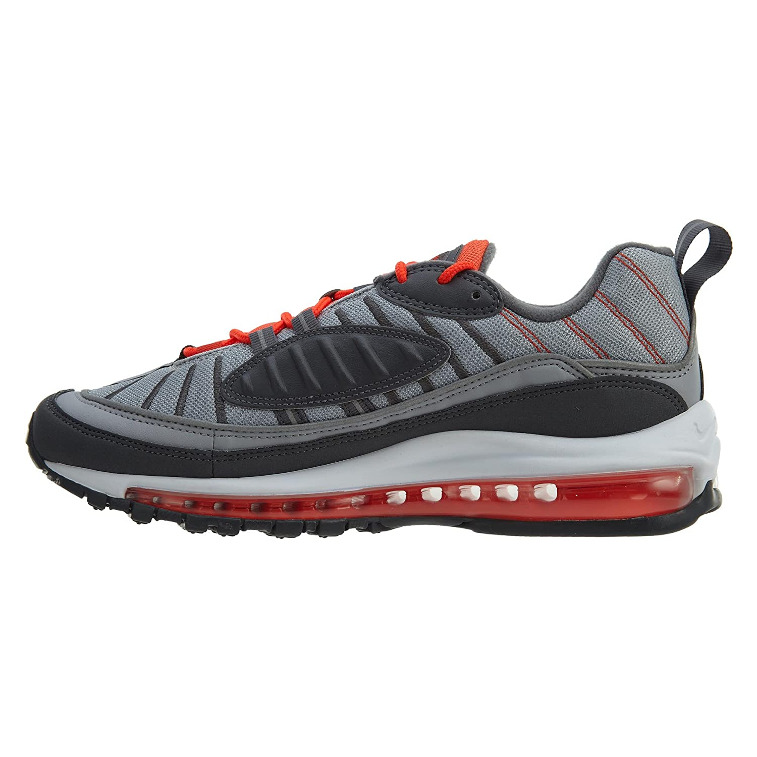 new products 29dcc 54af6 Amazon.com   NIKE Men s Air Max 98 Shoe Wolf Grey Total Crimson   Shoes