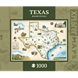 MasterPieces Texas Map Jigsaw Puzzle, 1000-Piece