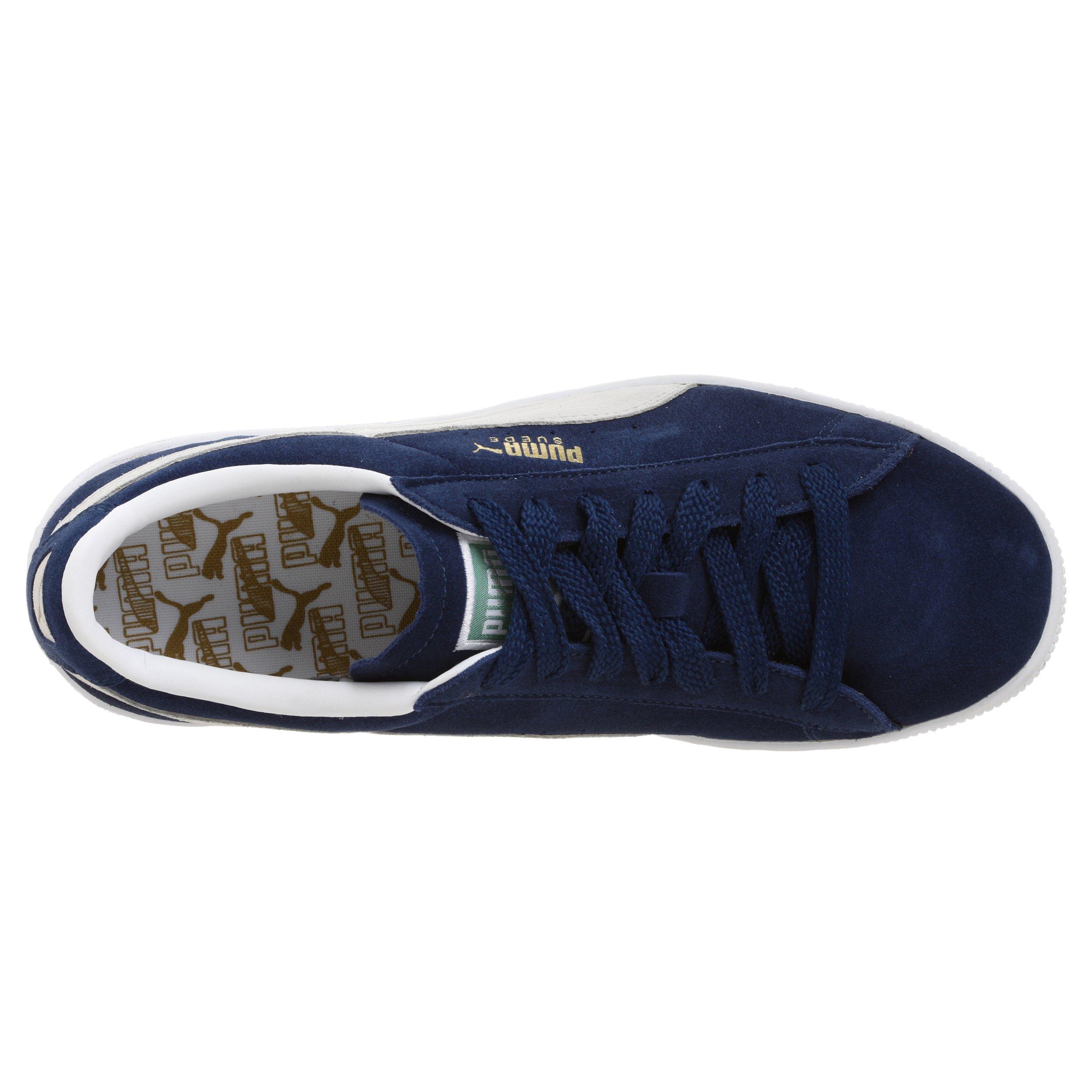 PUMA Suede Classic Sneaker,Blue/White,8 M US Men's by PUMA (Image #7)
