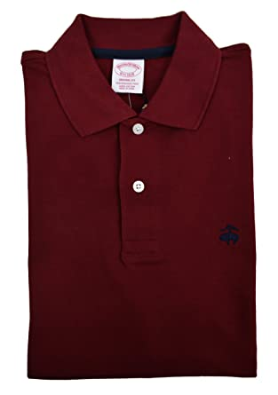 ad8267668 Image Unavailable. Image not available for. Color: Brooks Brothers Men's  Original Fit Performance Pique Polo Shirt ...