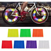 12pc//Set Cycling Wheel Spoke Reflector Bike Bicycle Tubes Mount-Clip J3P5