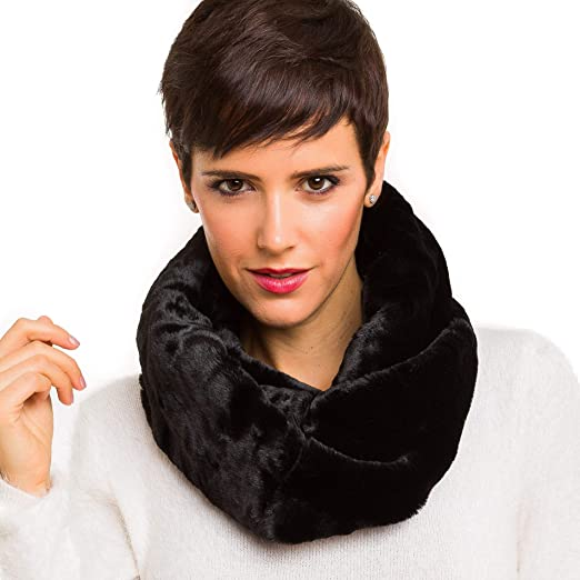 Fur Collar Scarf Black Thick Luxurious Faux Fur Softest Feel Stunning NEW