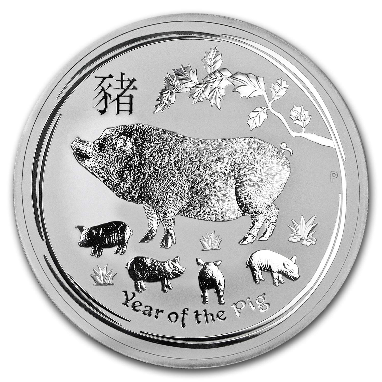 2019 Silver 10 oz Australia Perth Lunar Pig