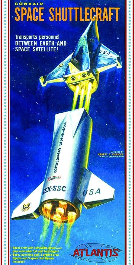 Amazon Com Convair Shuttlecraft Space Ship 1 150 Plastic Model Kit Atlantis Toys Games