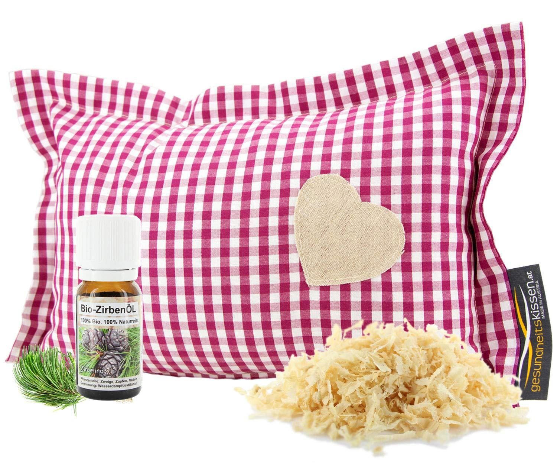 Kariertes Zirbenkissen für Ihren erholsamen Schlaf, Zirbenholzprodukte