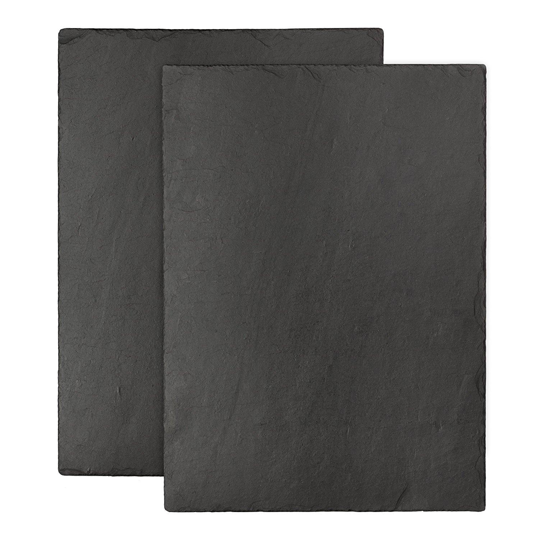 The Just Slate Company Natural Slate Trivet 13.7 x 9.8-Inch, Set of 2