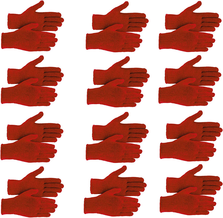 Winter Knit Gloves Bulk Gloves 12 Pairs Men's Women's Warm Gloves- One Size Fits All