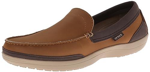 Crocs Wrap Colorlite Loafer M - Mocasines, 39-40, Marrón Hazelnut/Espresso: Amazon.es: Zapatos y complementos