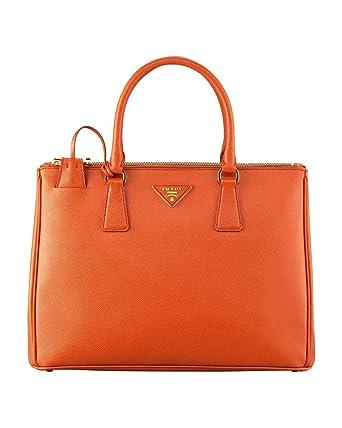 f8898d915699 Prada Women's Tote Bag Saffiano Leather in Papaya Style 2274: Amazon.co.uk:  Clothing
